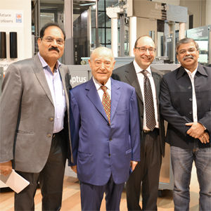 Indian customers visiting the IGV showroom with IGV President and General Director
