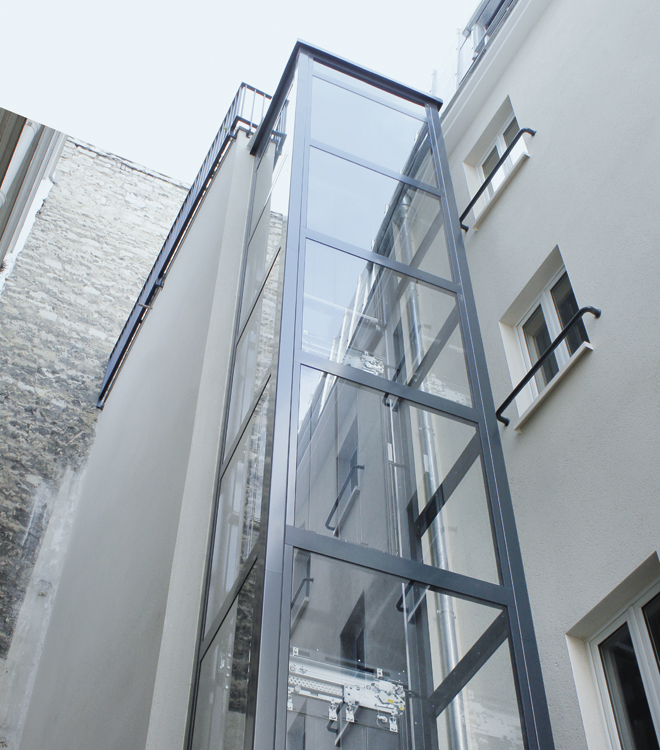 Residential elevators and small lifts for condos domuslift for Indoor elevator