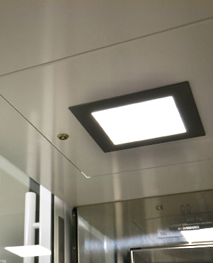 Green lifts DomusLift LED lighting